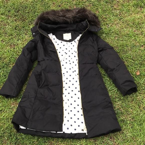 Kate Spade hoodie puffer coat Sz 4